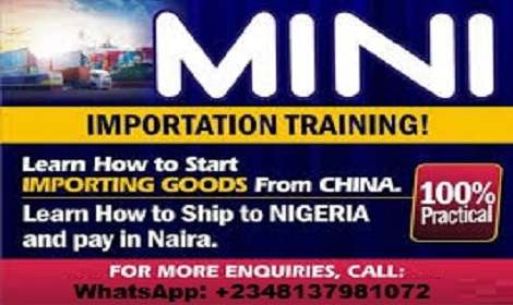 ONE ON ONE PRACTICAL TRAINING ON MINI IMPORTATION BUSINESS